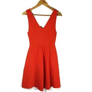 Anthropologie Maeve Double V Fit and Flare Dress